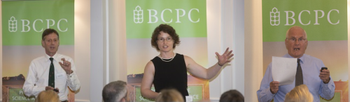 Presenting to a full-house at the joint BCPC VI event held at The Farmers Club